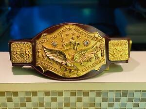 NWA World Tag Team Championship Belt. Zinc Plates, 24 K ORIGINAL GOLD.