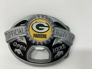 Green Bay Packers NEW Tailgater Belt Buckle With Bottle Opener NFL Football