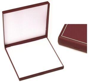 Grand Écrin pour Collier / Parure - Rouge - Boite Cadeau Cadre Doré - Bijoux