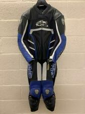 Arlen Ness 3257 One Piece Motorcycle Leathers Suit Black Blue Eu 54 UK 44 - VGC