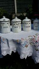 More details for vintage french kitchen enamel pots