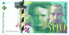 France 500 Francs Pierre et Marie Curie - 1994 à 1998 - séries variées