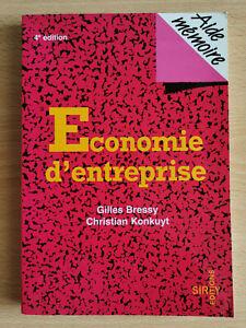 Aide-mémoire - Economie d'entreprise