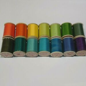 14 Vintage DEWHURST STAR cottons 100mtrs/109yards Polyester thread