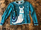 Company Kids Girls Ugly Sweater Llama Blue Size 10/12
