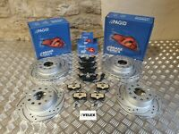 PAGID FRONT & REAR DRILLED & GROOVED BRAKE DISCS & PAGID PADS VW CADDY 06-2020