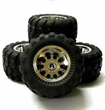 HS211506FR 1/10 Off Road Compatible Tamiya Caravan RC Wheels Tyres Chrome V2