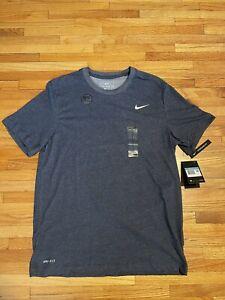 Nike Dri-Fit Cotton Tee Short Sleeve Men's Medium NWT Gray/Blue