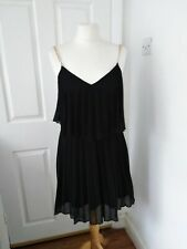 LIPSY pleated dress size 12 with chain straps excellent condition party cocktail