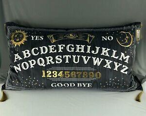 "Cynthia Rowley Curious Ouija Board Halloween Luxury Feather Pillow 29"" x 15"" New"