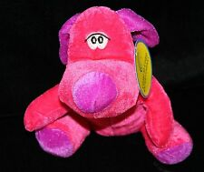 "Coast to Coast PUPPY DOG 7"" Hot Pink Plush Stuffed Animal Fuchsia Purple Ear Toy"
