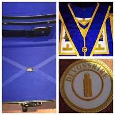 Masonic Case Apron,collar & Badge New For Only £115.00