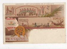 Souvenir Des Catacombes de St Calliste Via Appia Vintage Postcard Italy 156a