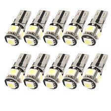 10pcs Canbus Error Free White T10 5-SMD 5050 Interior LED Light bulb W5W 194 168