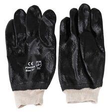 "24 Pair PVC 10"" Chemical Liquid Water Resistance Knit Wrist Industrial Gloves L"