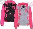 Womens BASEBALL HOODY JACKET Ladies Girls ORLANDO Hoodie NEON Size 8 10 12 14