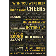 Beer - Life POSTER 61x91cm NEW *Drinking Cheers Bottom's Up Pub Alcohol