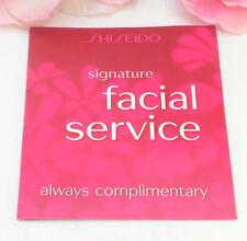 Shiseido Facial Service Gift Certificate Card Redeem at a Local Shiseido Counter