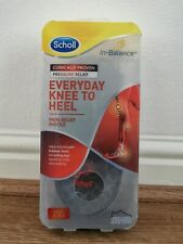 Scholl In Balance EVERYDAY KNEE TO HEEL Pain Relief Insole UK Size M 7 - 8.5