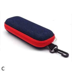 Zipper Sunglasses Fabric Hard Case Portable Glasses Bag Box Cover Pouch I6W3