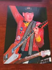 1981 Vintage 8X11 Magazine Color Photo Clipping Of Rick Nielsen Of Cheap Trick