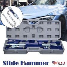 Slide Hammer Dent Puller 13# 13pc Set Auto Body Dent Repair Bearing Axel Remover