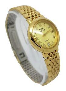 Kathy Ireland Ladies Gold Tone Dress Watch 69405K