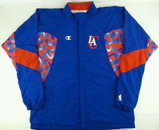 Vintage 90s Champion Los Angeles Clippers Team Issue Basketball Jacket Size 50