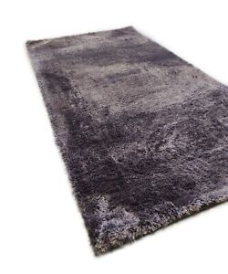 QUALITY SILKY THICK SUPER SOFT CHARCOAL MAT SHAGGY SMALL LOW PRICE RUG CARPET