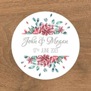 Personalised Wedding Stickers Favour Labels (E-007)