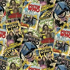 DR WHO - Comic Books   - Characters - Cotton Fabric - FQ- 1/4yd