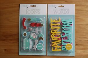 Home LetterBoard Icons & Words Travel & Happy 2-Pack 19 Piece