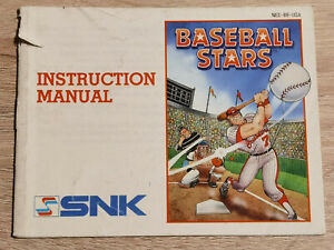 Baseball Stars Nintendo Nes ( Manual Only