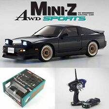 Kyosho MINI-Z AWD Sports MA-020S NISSAN 180SX Aero Black Drift Car w/ LED