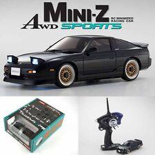 Kyosho MINI-Z AWD Sports MA-020S NISSAN 180SX Aero Black Drift Car w/ LED