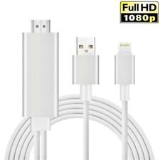CABLE HDTV LIGHTNING VERS HDMI ADAPTATEUR 2m HD 1080P POUR iOS IPHONE 5 6 7 8 8X