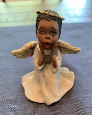 Sarah's Attic Small African American Angel Figurine