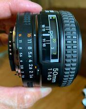 Nikon NIKKOR 50mm f/1.4 D SIC AF Lens - EX Condition