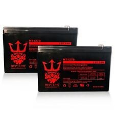 (2) Neptune/Casil 12V 7AH CA1270 BATTERY REPLACES UB1280 - 2 Pack