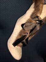 Euc $ 1,790 BLUMARINE suede leather Mink women Sexy Boots Sz 38 / 7- 7.5