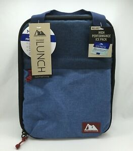 Arctic Zone Lunch Bag (Lunch Box) with Ice Pack, Denim Blue & Light Blue