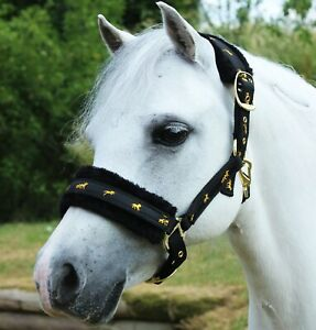 Gallop Fluffy Headcollar Removable Fur Cob, Pony and Full