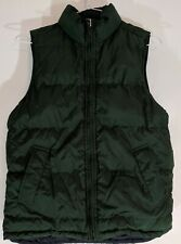 GAP KIDS PUFFER VEST Green Black REVERSIBLE Pockets Zipper L 10 Jacket # 54023