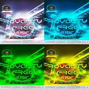 Royalty Free Music CD Ultimate Relaxation Bundle 4 CDS  PPL PRS Licence Free SPA