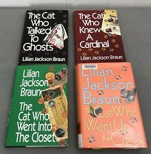 Lot Of 4 Lillian Jackson Braun HC Books Cat Who Ghosts, Creek, Closet, Cardinal