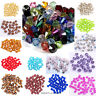 Wholesale 100Pcs 6mm Faceted Crystal Glass Bicone Loose Beads Crafts DIY Making