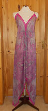 COPPERNOB pink beige black orange chiffon asymmetric fairy beach maxi sundress L