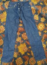 90's VTG LEVI'S 501 XX DENIM Jeans Red Tab Button Fly Straight Leg 31x35 A