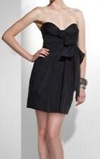 $238 BCBG BLACK (VVV6G278) POCKETS TIE STRAPLESS DRESS NWT 12