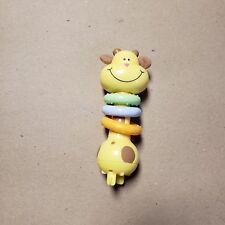 Replacement Part GIRAFFE Plastic Baby Toy Rings Yellow Orange Green Exersaucer